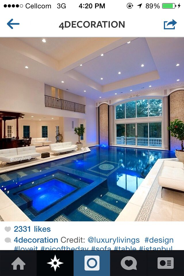 Indoor Pool Dream House My Dream Home Mansions