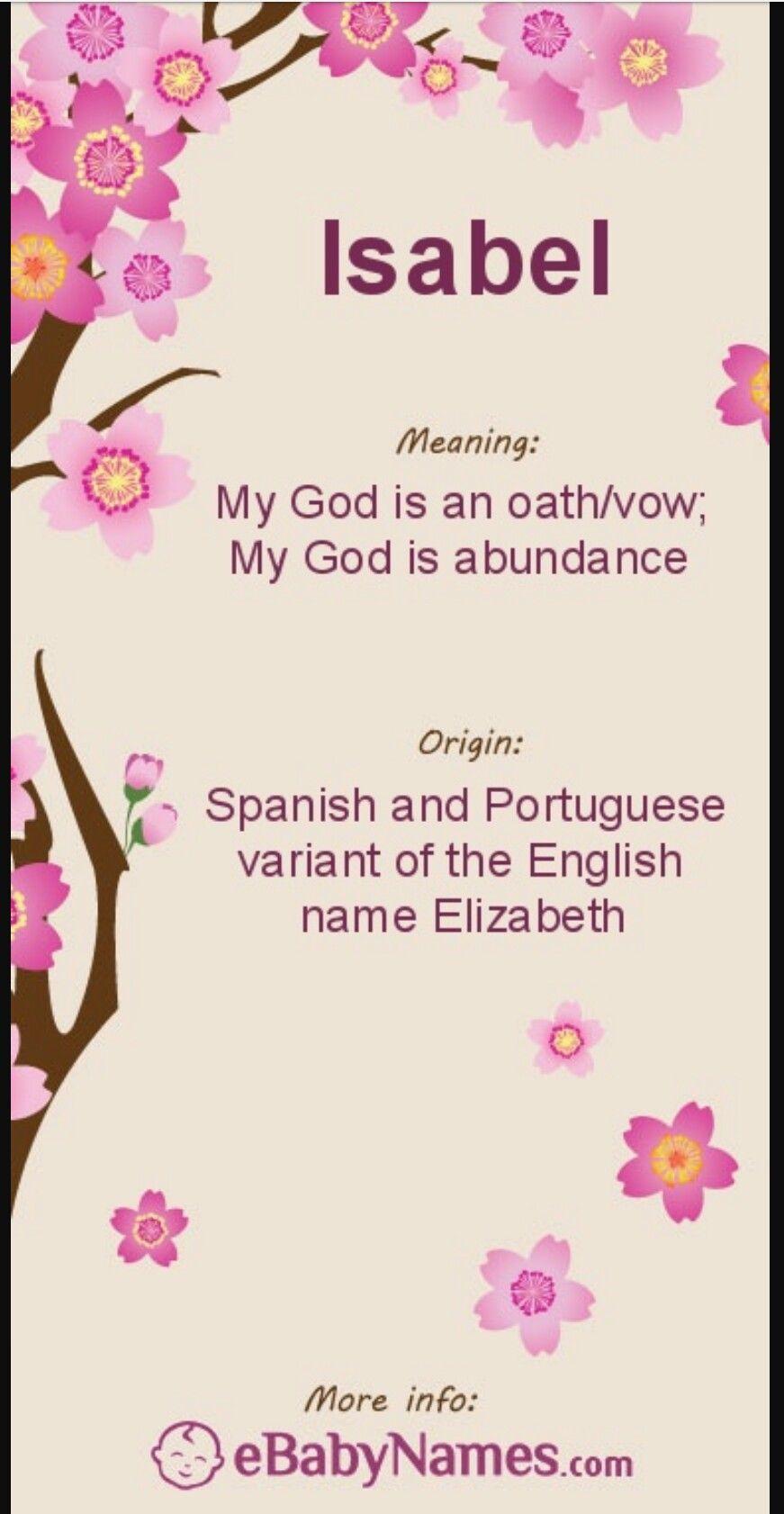 70ce7eae2e8e Isabel name meaning