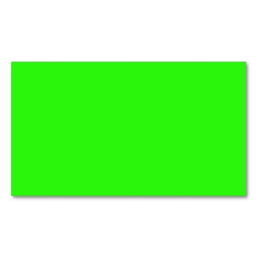 Bright Neon Green Color Trend Blank Template Business Card  Card