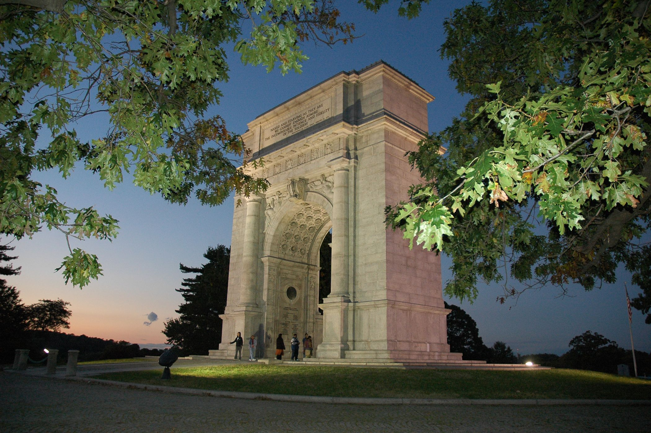 The famous Valley Forge Arch...beautiful picture of it!