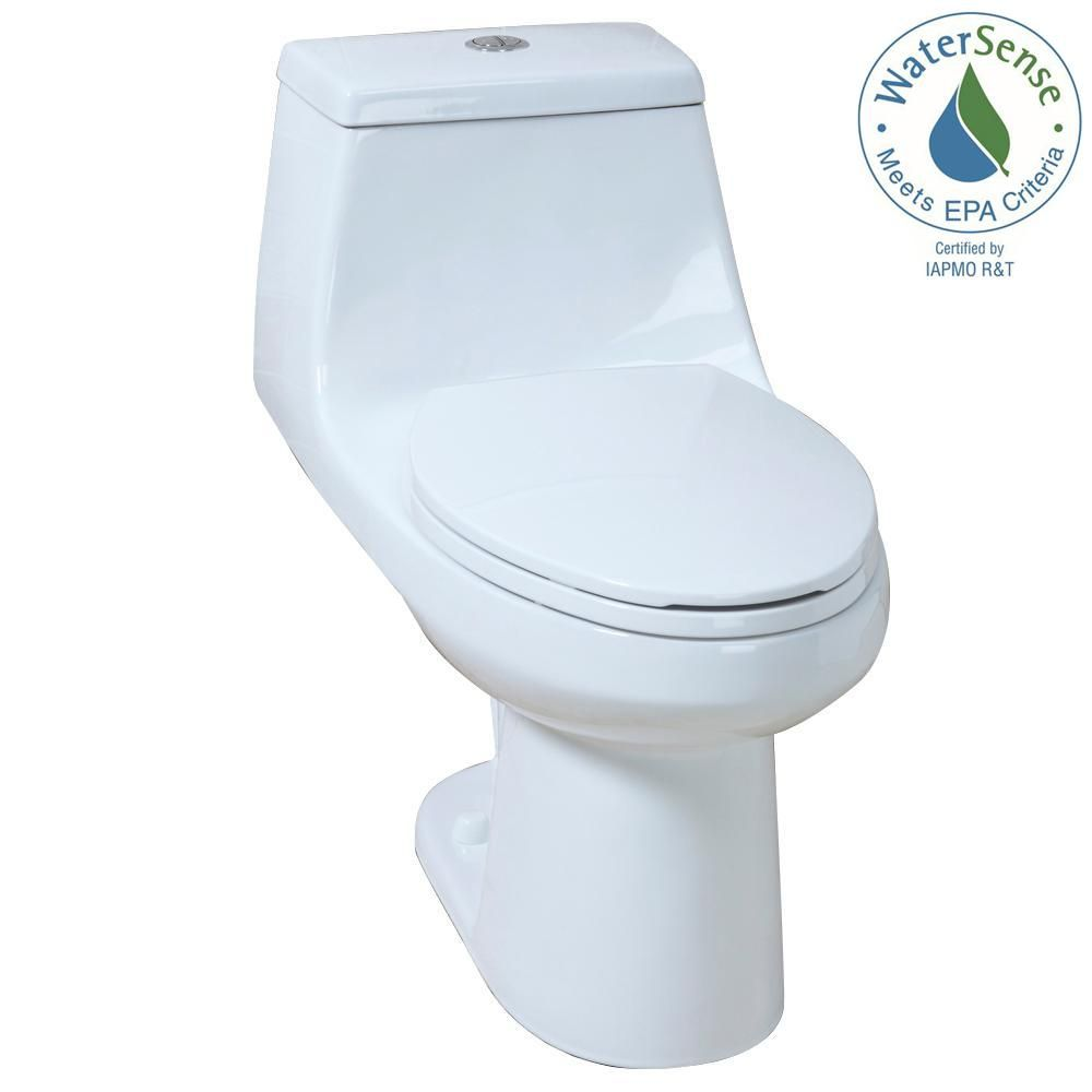 Glacier Bay 1 Piece 1 1 Gpf 1 6 Gpf High Efficiency Dual Flush Elongated All In One Toilet In White N2420 Dual Flush Toilet One Piece Toilets Toilet
