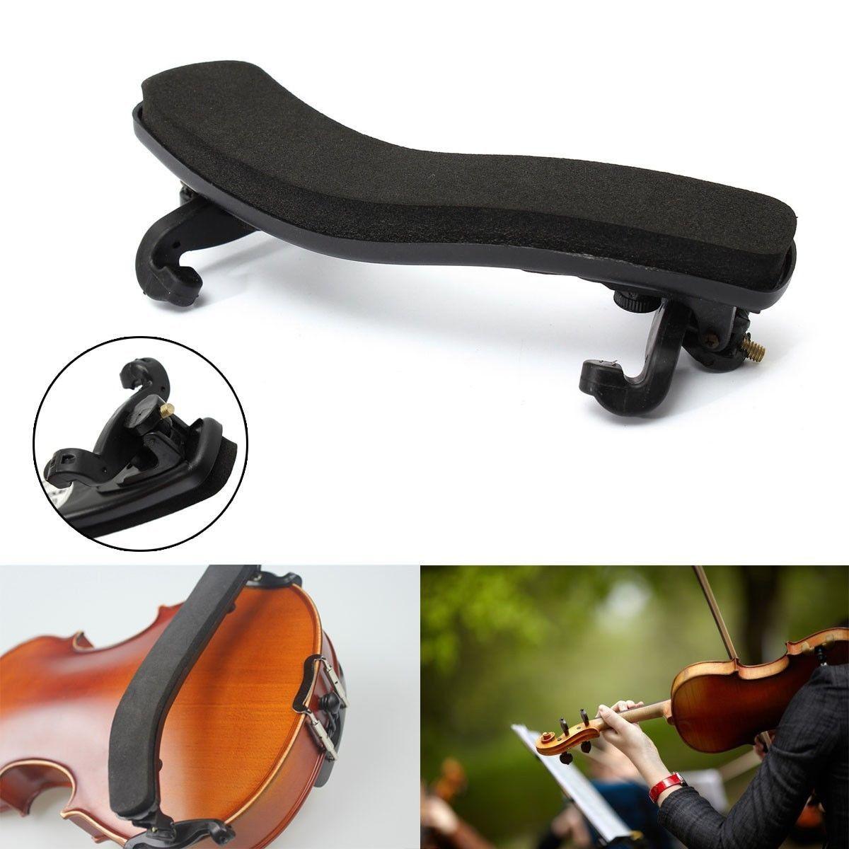 Black+Height+&+Angle+Adjustable+Violin+Shoulder+Rest+For+1