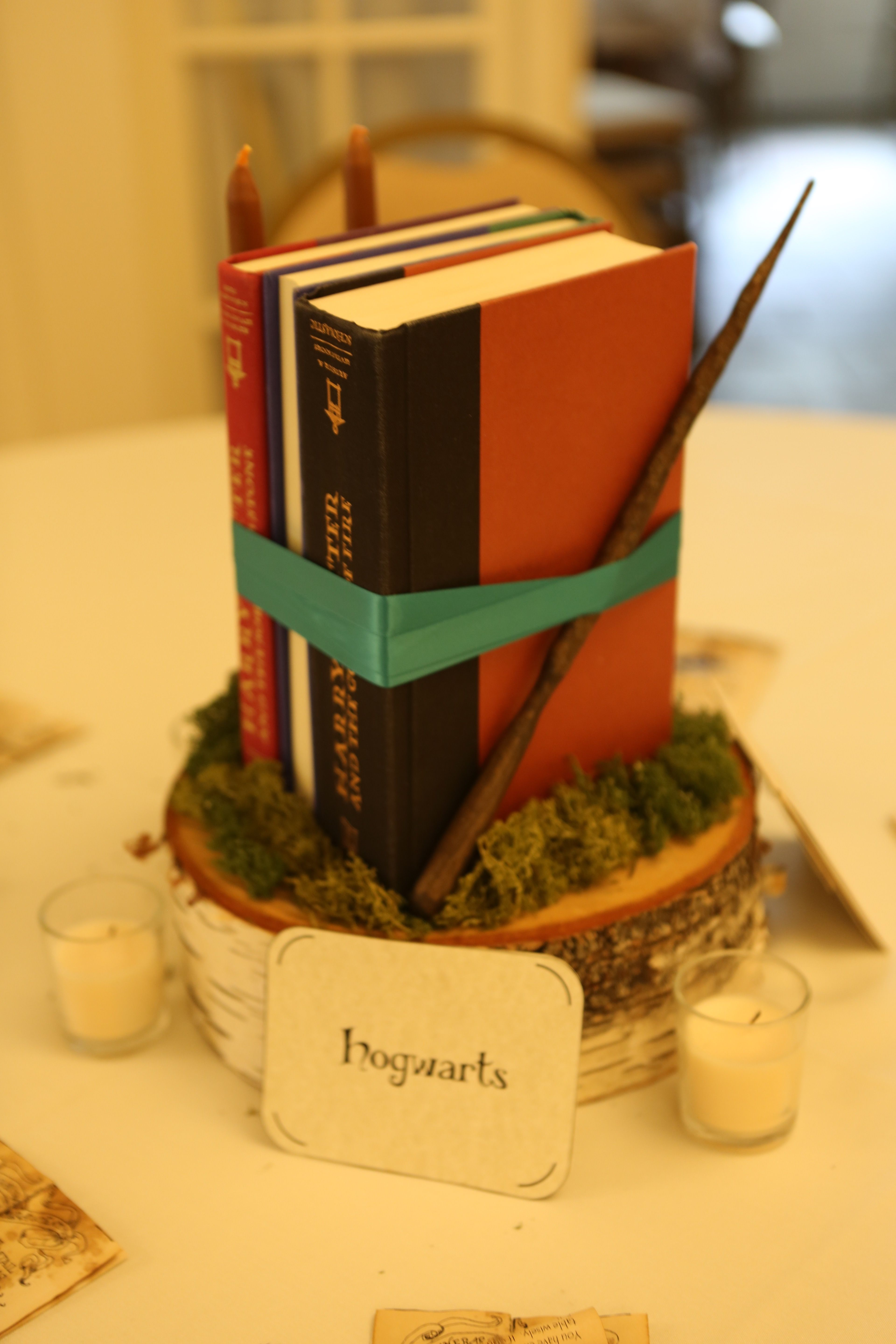 Hogwarts harry potter table centerpiece my geeky but