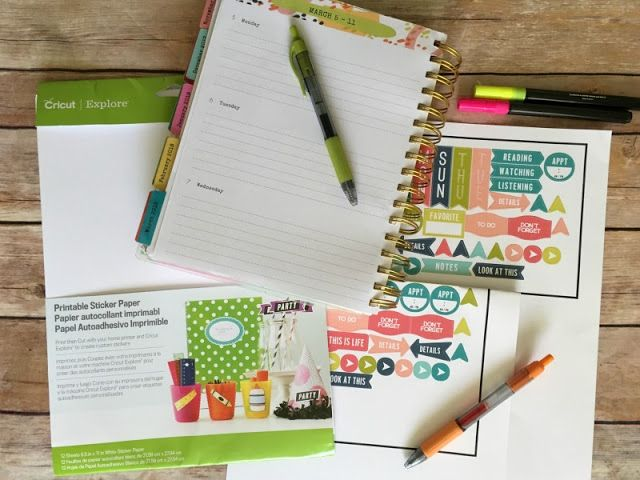How to make planner stickers using cricut custom stickers cricut and planner stickers