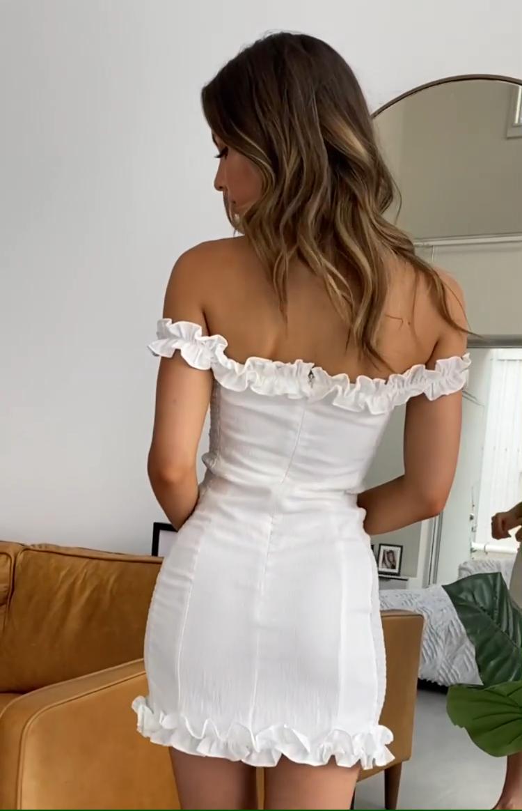 Spring Romance Dress White