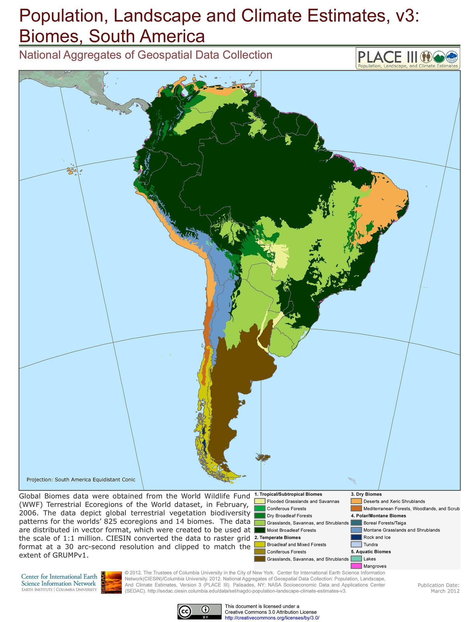 Biomes South America