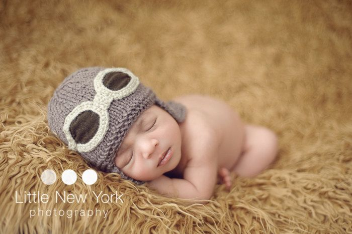 9243b3d64ea FREE SHIPPING Baby pilot aviator hat .. Perfect baby shower gift or  photography prop.  18.00