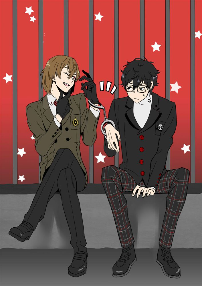 This Is A Total Light And L Type Of Thing Like Think About It Akira Uses Supernatural Powers To Do Stuff And Akechi Persona 5 Persona 5 Goro Persona 5 Joker