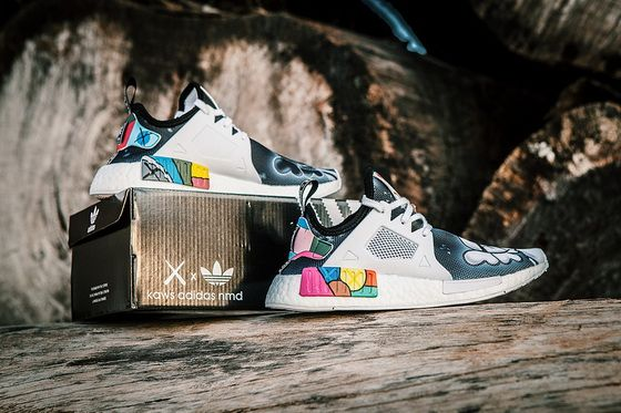 4d0ee186f Kaws X Adidas NMD Xr1 Colorful Boost Black White Factory Authentic Shoe