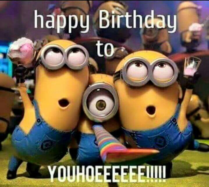 Happy Birthday Minions With Images Happy Birthday Quotes Funny