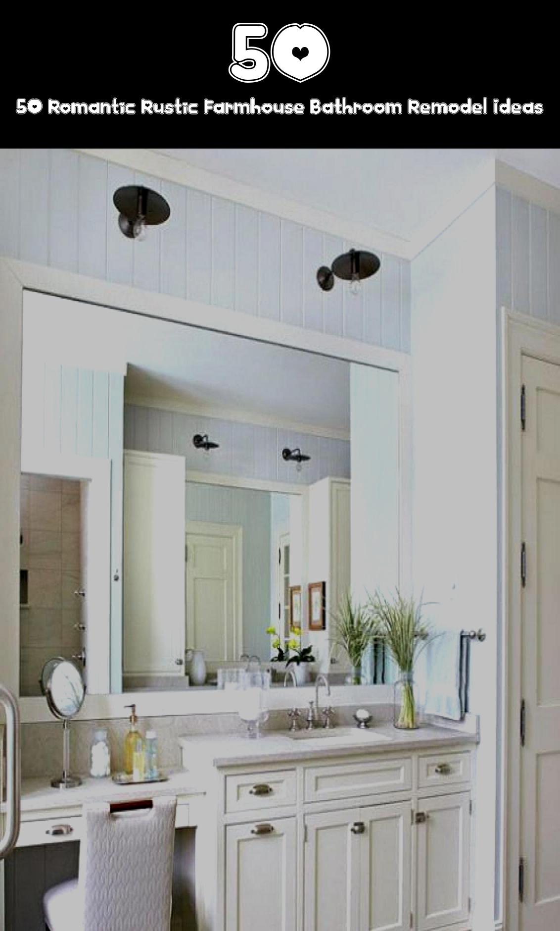 Photo of 50 Romantic Rustic Farmhouse Bathroom Remodel Ideas