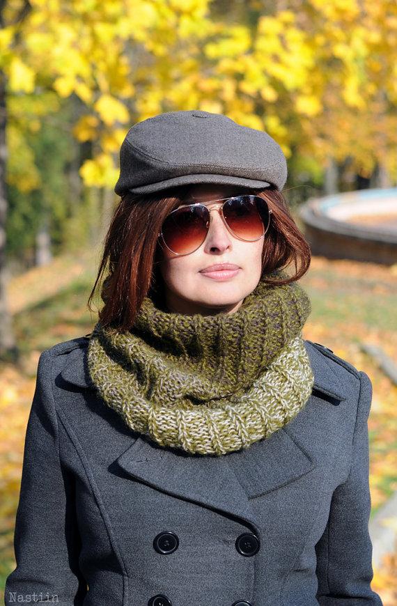 Womens Newsboy Hat Brown Tweed Hat Men Newsboy Cap Wool