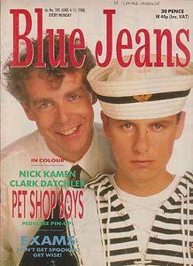 blue jeans magazine 80s pet shop boys Pet shop boys, Boy