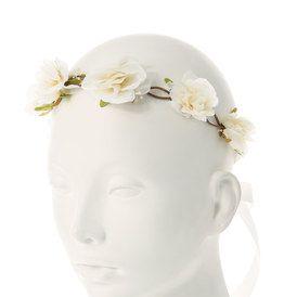 Pretty Cream Floral Headwrap