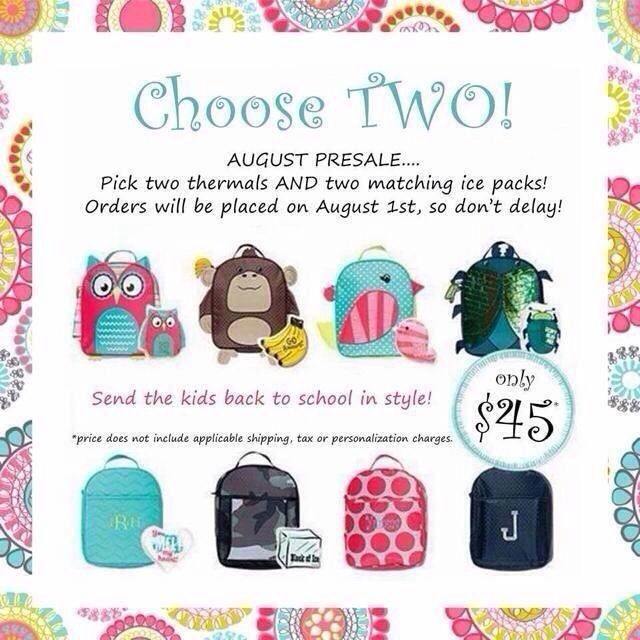 These ADORABLE lunch boxes are only available in August. Don't miss your chance to get one....or two... CLICK HERE to order: http://mythirtyone.com/493990