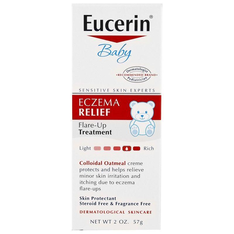 Eucerin للطفل لتهدئة البشرة من الإكزيما 2 أوقية 57 غرام Eczema Relief Baby Eczema Fragrance Free Products