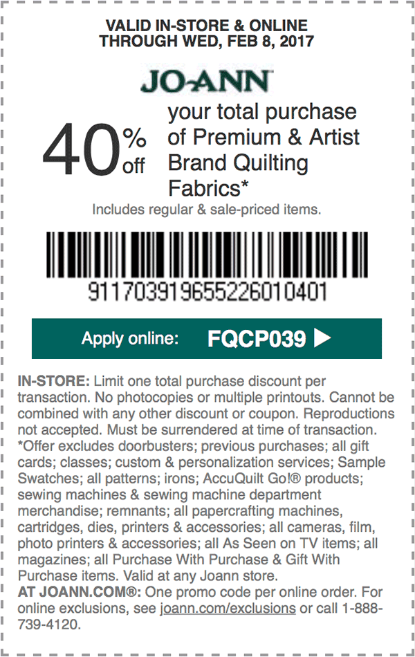 40 off your total purchase of Premium and Artist Brand