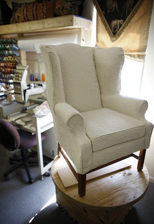 This Is The Exact Ethan Allen Wingback Chair I Have In My Living Room. Now,  I Just Need To Get It Slipcovered!
