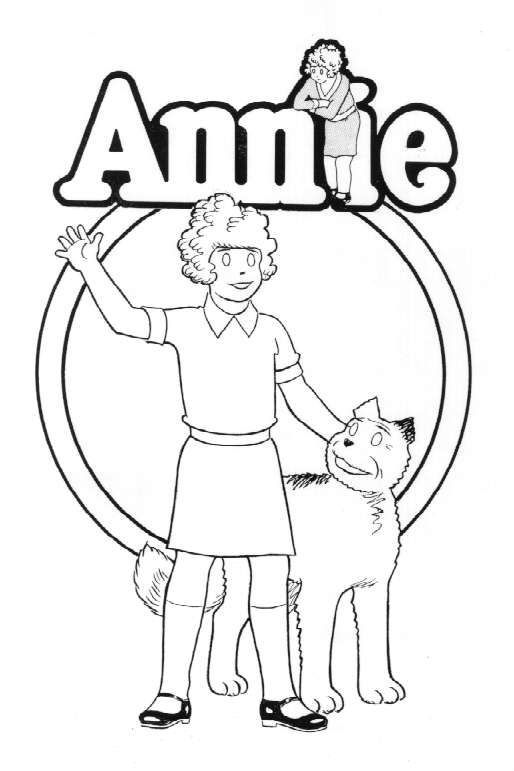 little orphan annie coloring page