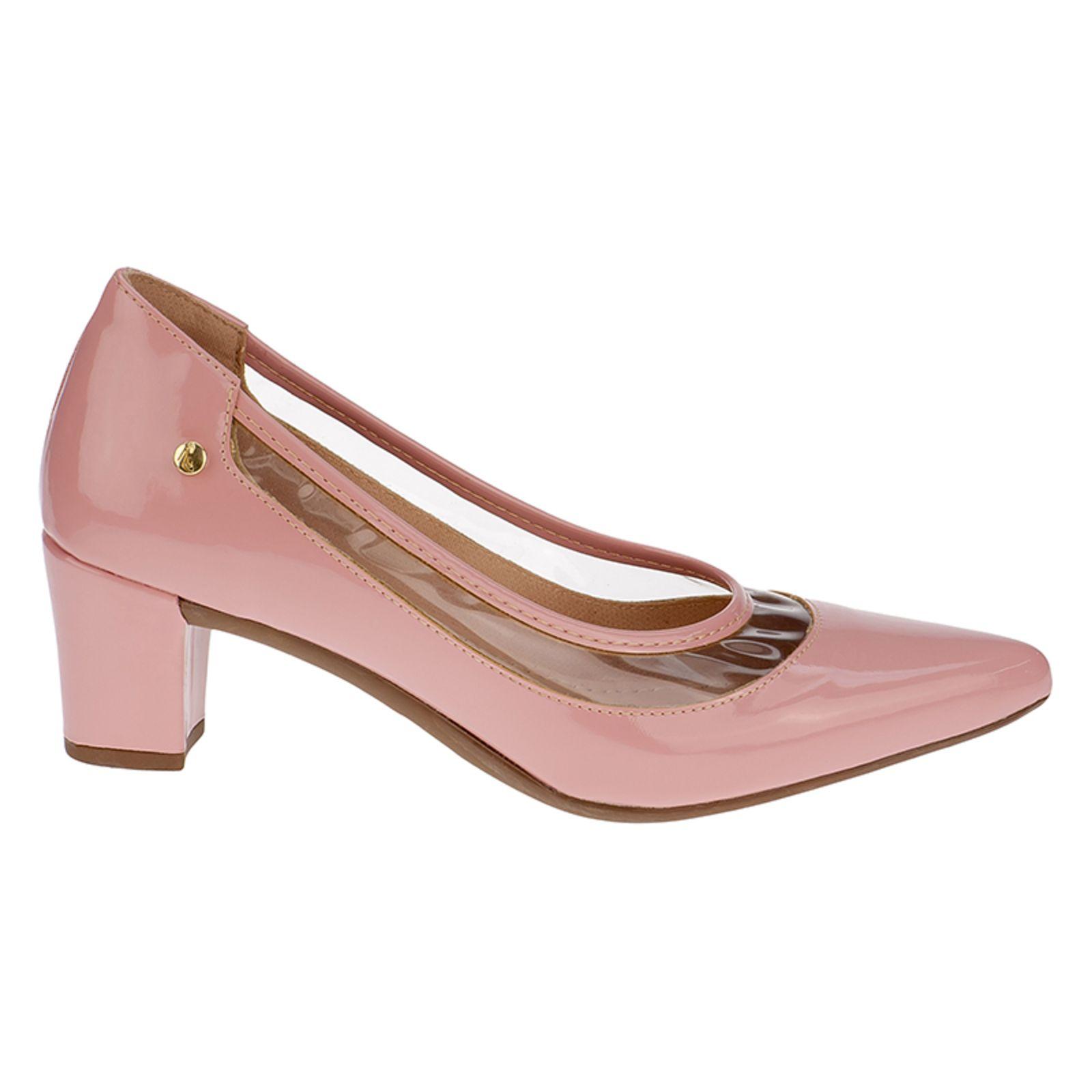 Sapato Feminino Scarpin Salto Grosso Vizzano Rosa