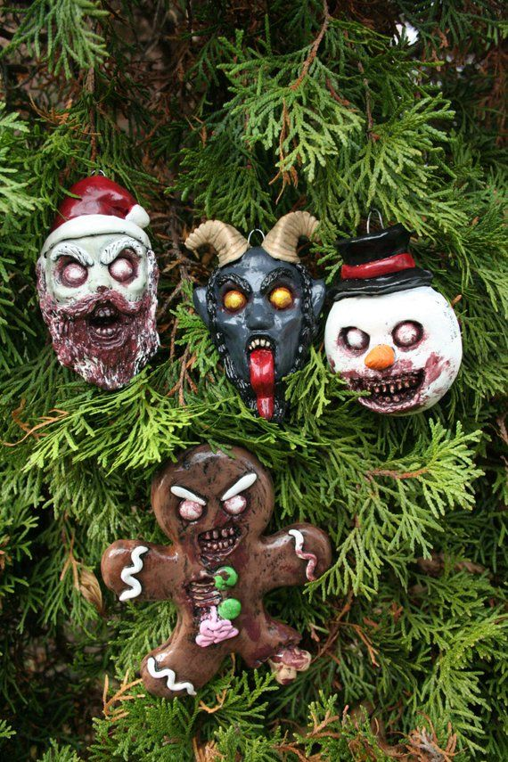Evil Christmas Characters.10 Creepy Christmas Tree Ornaments Haunted Christmas