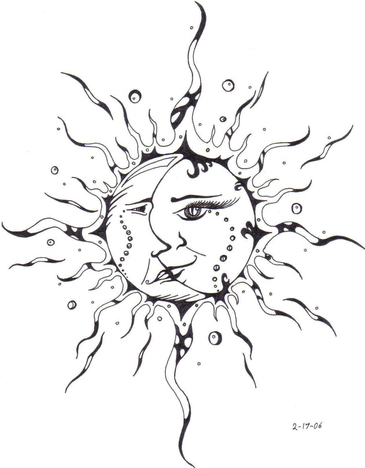 Sunrise tribal tattoo designs tribal sun - Sun And Moon Tattoos Bing Images Tattoo Ideas