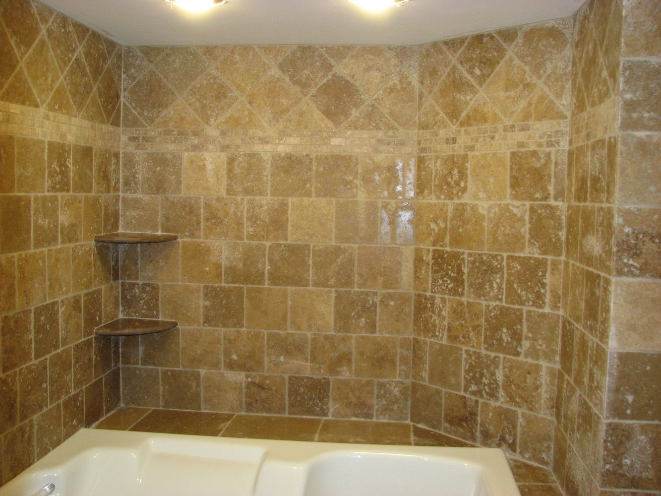 Small master bathroom budget makeover master bathrooms travertine tile jacuzzi bathroom ideas tiling travertine tile installation berlin nj dailygadgetfo Choice Image