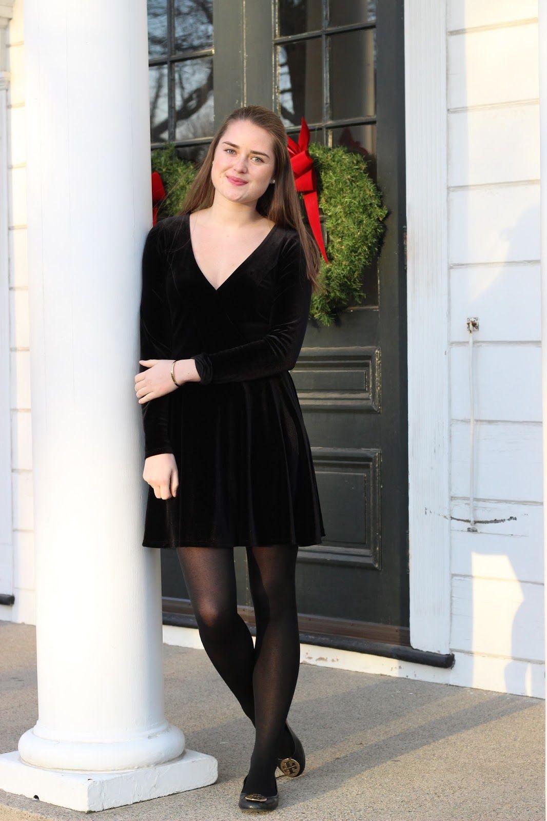 0395aee38847 Black Velvet Dress
