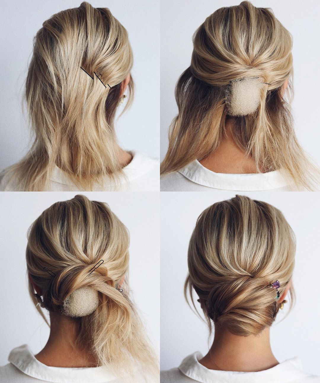 10 Easy And Cute Hair Tutorials For Any Occasion In 2020 With Images Short Wedding Hair Bridal Hair Updo Short Hair Updo