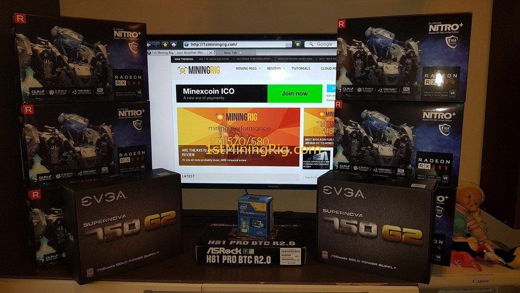 AMD Sapphire Nitro+ RX 580 8GB Limited Edition Mining Rig