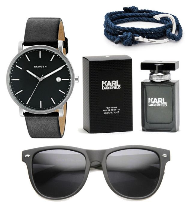 """""""."""" by muamermrkovic ❤ liked on Polyvore featuring MIANSAI, Skagen and Karl Lagerfeld"""