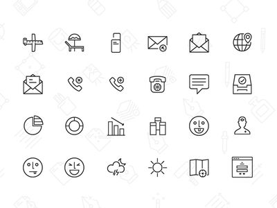 50 Free Line icons vector
