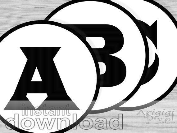 In Alphabet Number Circle Black White Printable By Arigigipixel