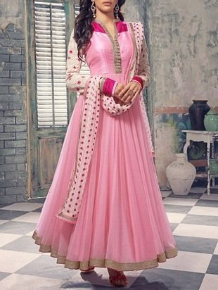 Check out what I found on the LimeRoad Shopping App! You'll love the Pink Georgette Embroidered Semi Stitched Suit Set. See it here http://www.limeroad.com/products/9777523?utm_source=9c31275cde&utm_medium=android