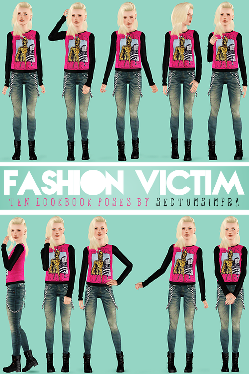Fashion Victim 10 Lookbook Poses | Sims 3 CostomContent