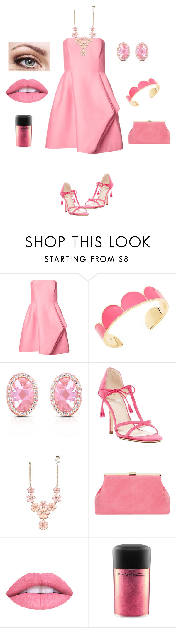 """""""Untitled #24"""" by briarbebeauty ❤ liked on Polyvore featuring Halston Heritage, Kate Spade, Collette Z, Frances Valentine, Mansur Gavriel, L.A. Girl and MAC Cosmetics"""