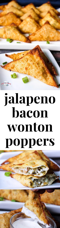 Jalapeno Bacon Wonton Poppers