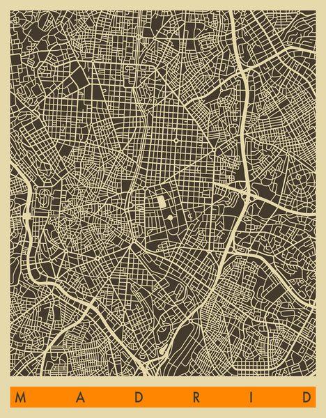 Madrid Map Art Print by Jazzberry Blue | Society6