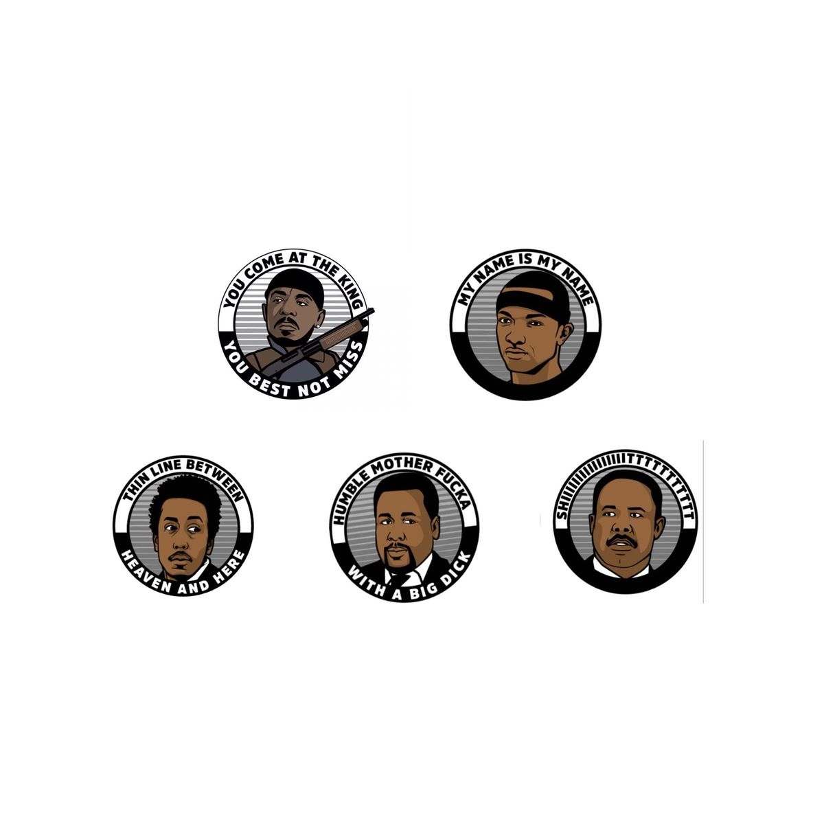 The pin set includes all 5 wire pins -Omar -Marlo -Bump _Bubbles ...