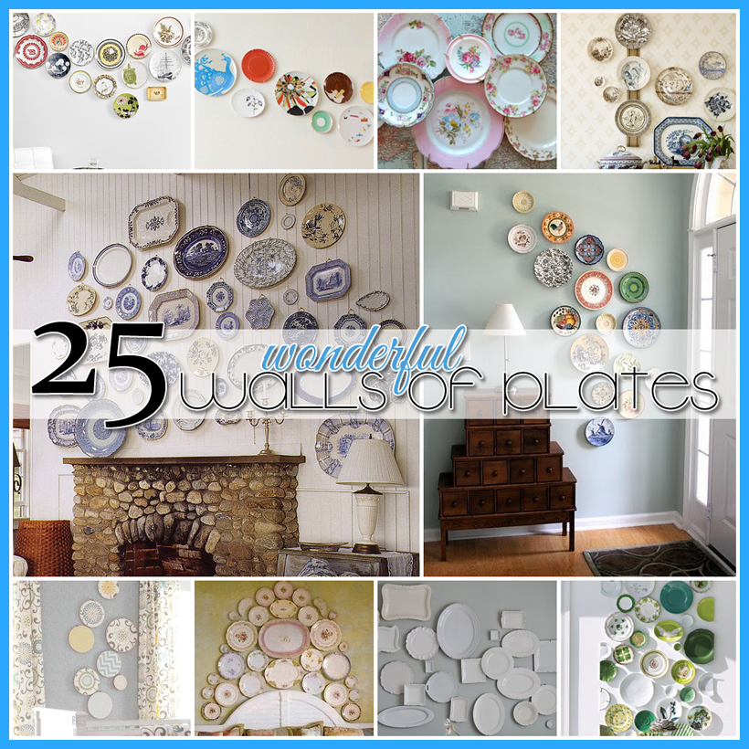 25 Wonderful Walls of Plates DIY Projects - The Cottage Market  sc 1 st  Pinterest & 25 Wonderful Walls of Plates DIY Projects | Dollar stores Scene and ...