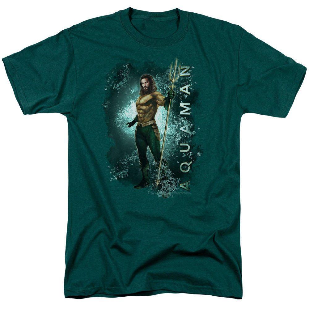 Aquaman Trident DC Comics Sublimation Licensed Adult T-Shirt