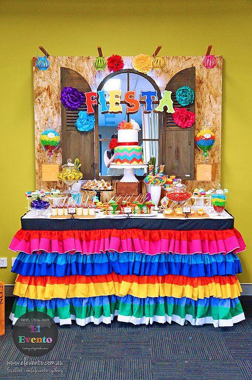 Mexican Fiesta Dessert Table Google Search Mexican Party Theme Fiesta Theme Party Kids Party Desserts