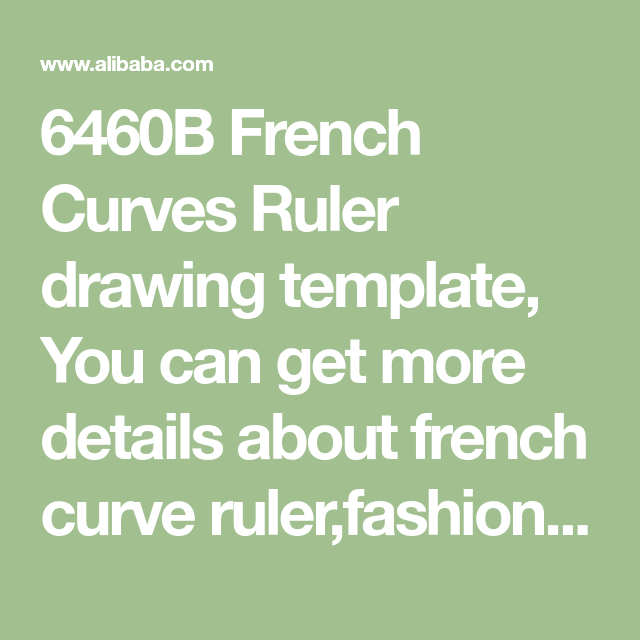 6460B French Curves Ruler Drawing Template You Can Get More Details About Curve Rulerfashion Design Plate From Mobile