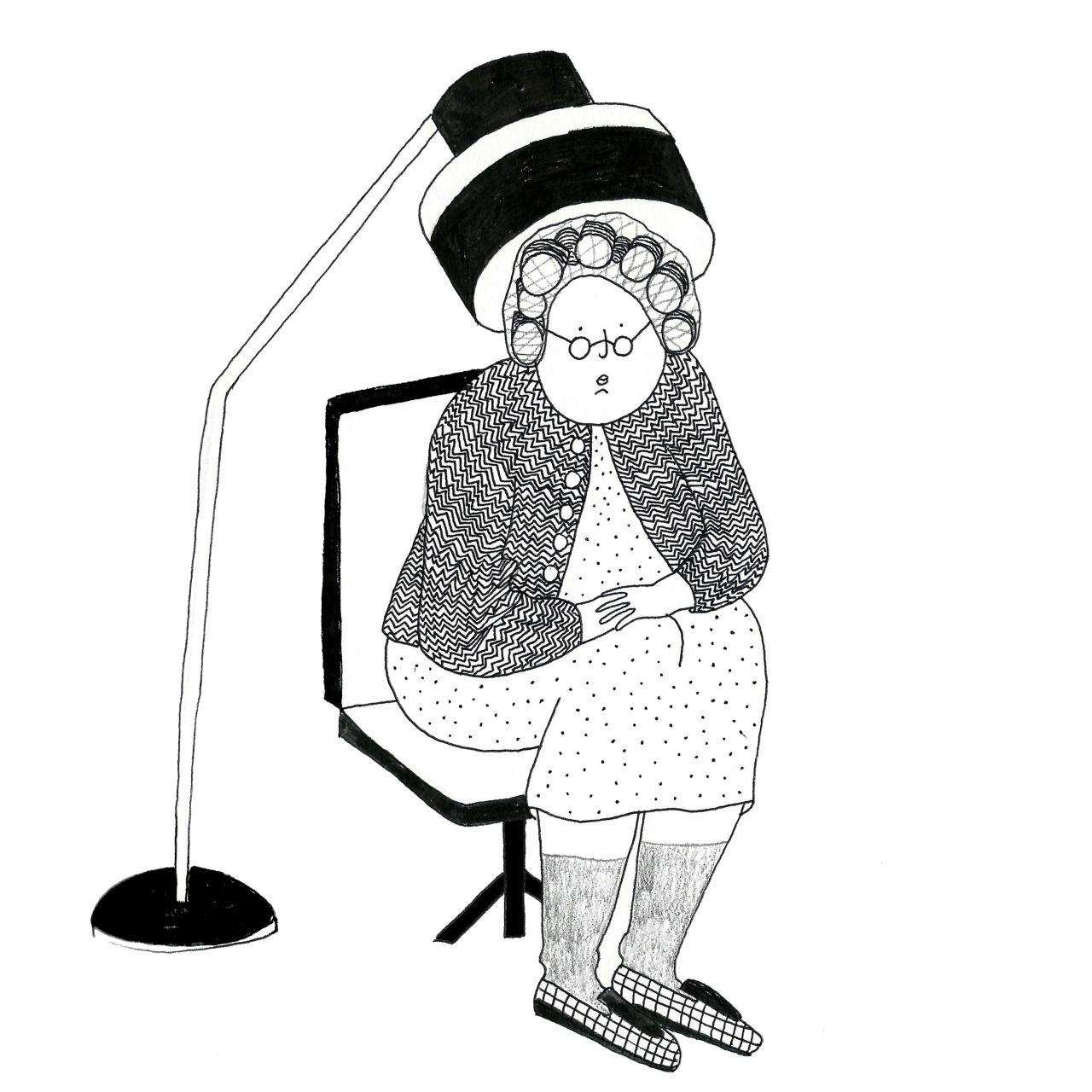 Mamie bigoudis par marie bretin pics en 2019 - Dessin de mamie ...