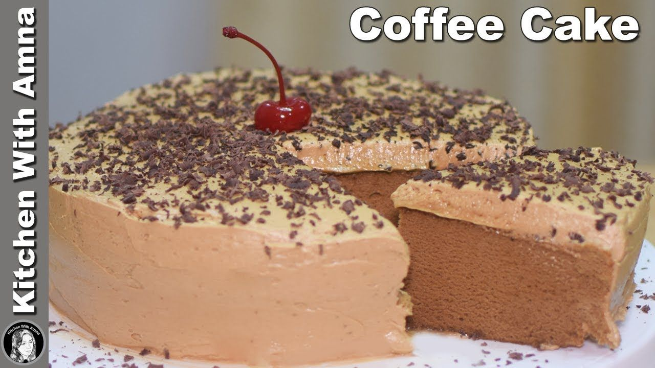 Coffee Cake Without Oven Soft Coffee Sponge Cake Recipe