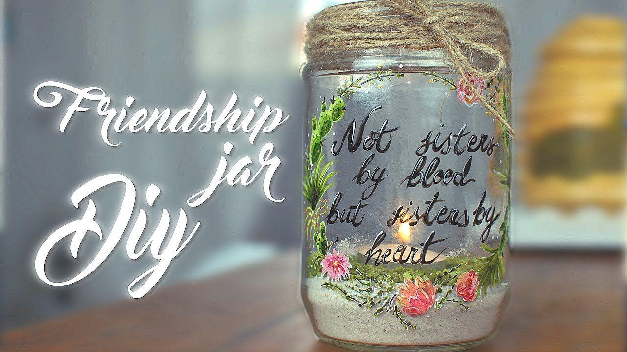 Diy gift idea friendship jar painting tutorial