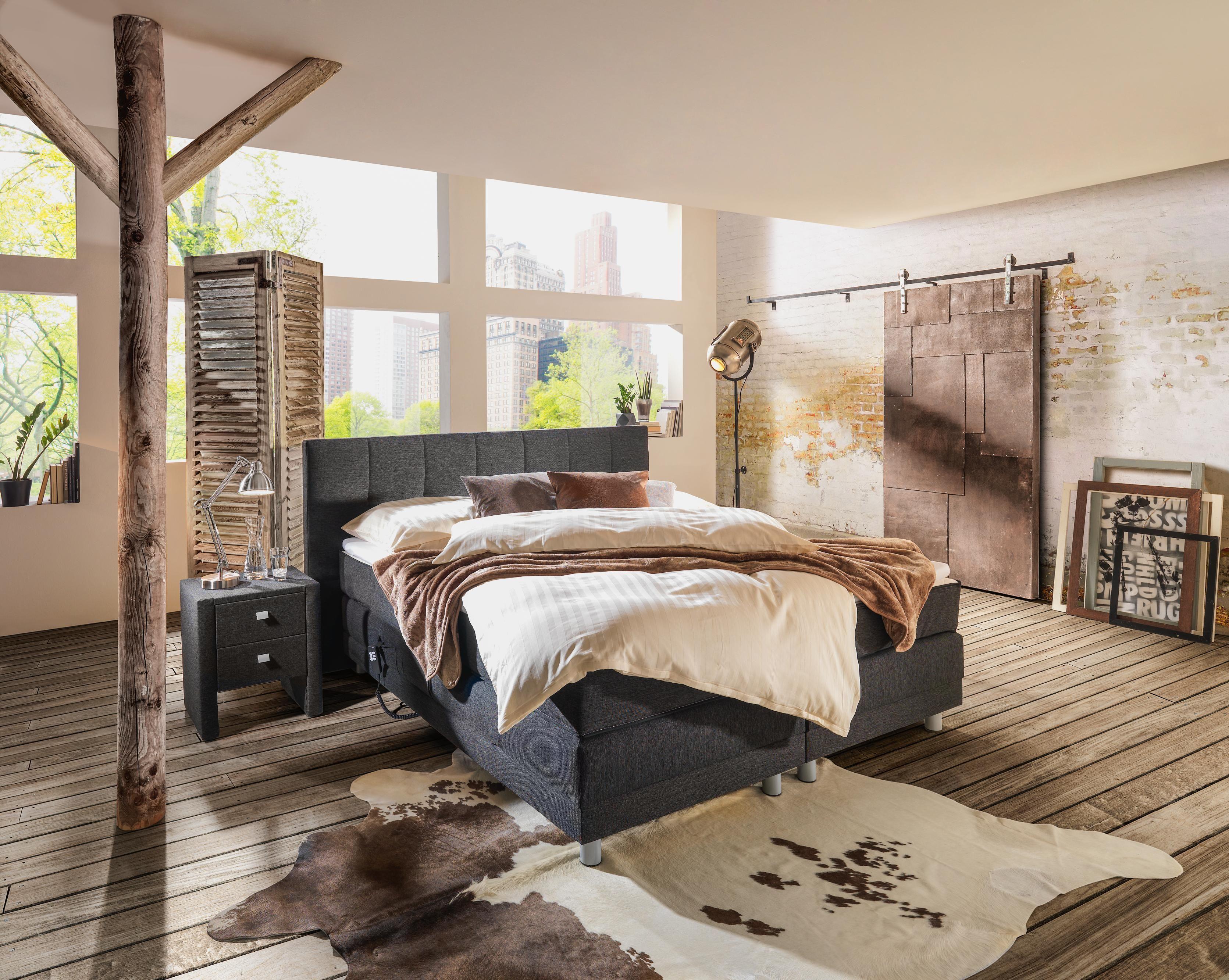 Graues Boxspringbett: Elegantes Schmuckstück Für Ihr Schlafzimmer