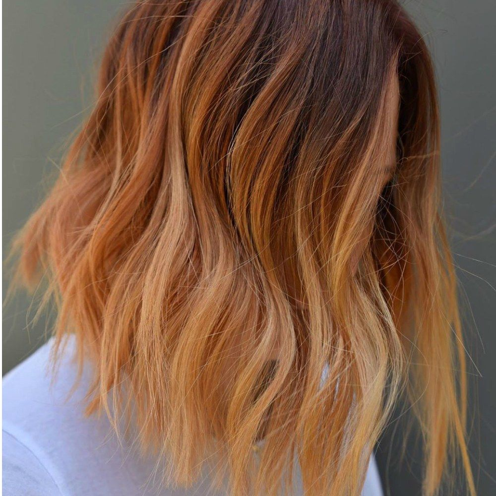 Ginger Peach Is the Prettiest Ombré Hair Color Trend for Fall