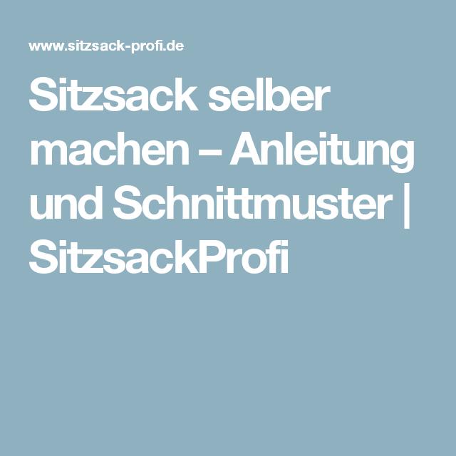 Anleitung Und Schnittmuster