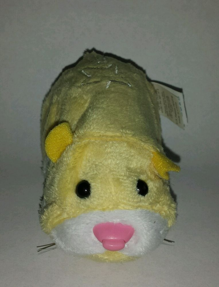 Zhu Zhu Pet Hamster Pipsqueak Yellow White Star With Tag Tested And Working